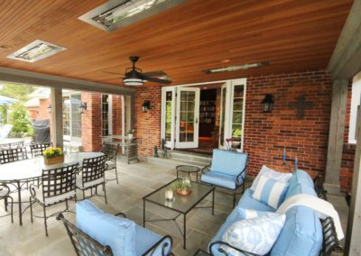 frontenac back deck patio blue furniture ample seating