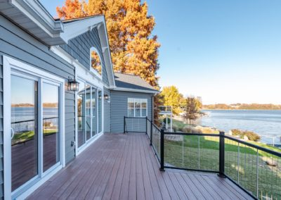lake view second story balcony porch autumn